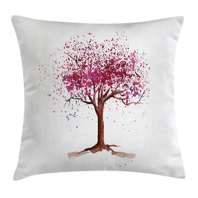 Blossom Buds Sakura Tree Cushion Pillow Cover Size: 20 x 20