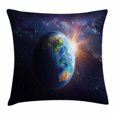 Face of Earth Pillow Cover Size: 18 x 18