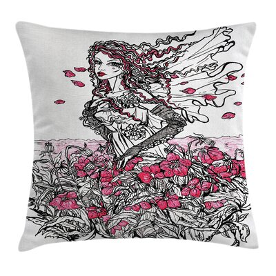Flower Girl Sketch Pillow Cover Size: 16 x 16