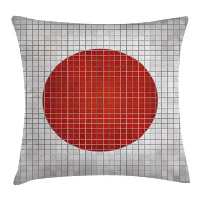 Japanese Flag Pillow Cover Size: 24 x 24