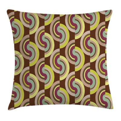 Modern Vintage Rounds Cushion Pillow Cover Size: 16 x 16