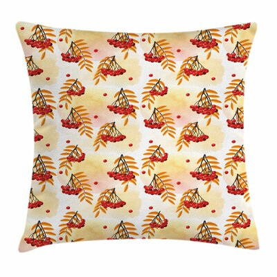 Romantic Fall Season Tile Square Pillow Cover Size: 16 x 16