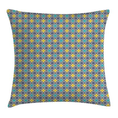 Trellis Antique Retro Pattern Square Pillow Cover Size: 16 x 16