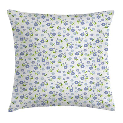 Romantic Spring Flowers Cushion Pillow Cover Size: 24 x 24