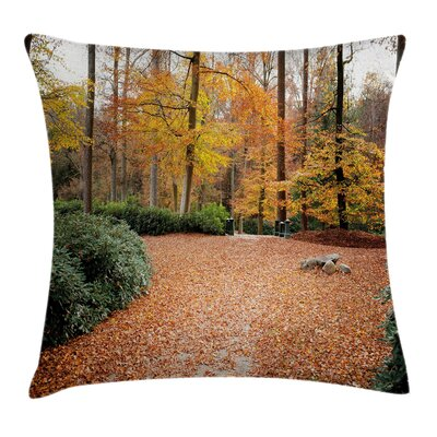 Forest Trees Fall Square Pillow Cover Size: 18 x 18