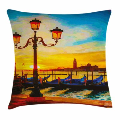 Antique Lantern Gondolas Square Pillow Cover Size: 16 x 16