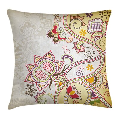 Modern Waterproof Floral Graphic Print Pillow Cover Size: 18 x 18