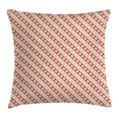 Diagonal Line Pillow Cover Size: 18 x 18