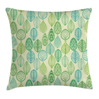 Leaves Square Pillow Cover Size: 24 x 24