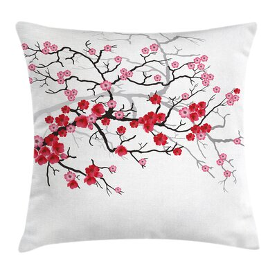 Japanese Blossom Bough Pillow Cover Size: 16 x 16