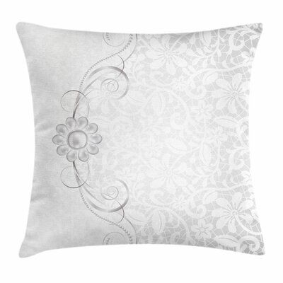Bridal Flourish Motifs Square Cushion Pillow Cover Size: 18 x 18