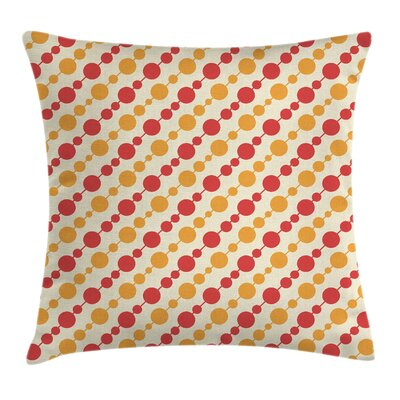 Big Small Dots Chain Cushion Pillow Cover Size: 18 x 18