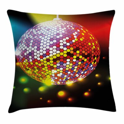 Vivid Disco Ball Square Pillow Cover Size: 24 x 24