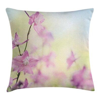 Larkspur Petals Summer Square Pillow Cover Size: 18 x 18