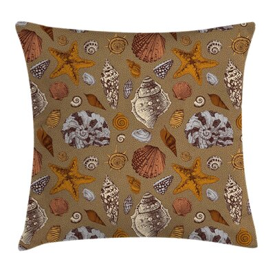 Cute Underwater Animals Square Pillow Cover Size: 20 x 20