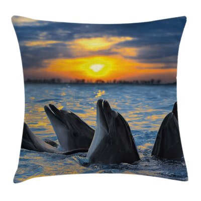 Animal Graphic Print Pillow Cover with Zipper Size: 24 x 24