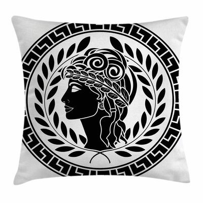 Roman Muse Portrait Square Cushion Pillow Cover Size: 18 x 18