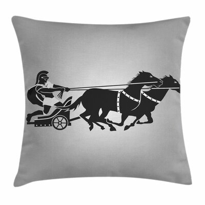 Chariot Gladiator Square Cushion Pillow Cover Size: 16 x 16