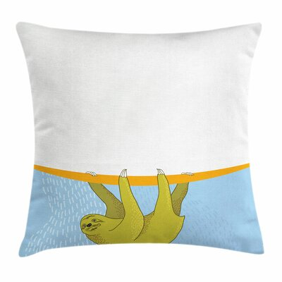 Underwater Wildlife Sloth Square Pillow Cover Size: 24 x 24