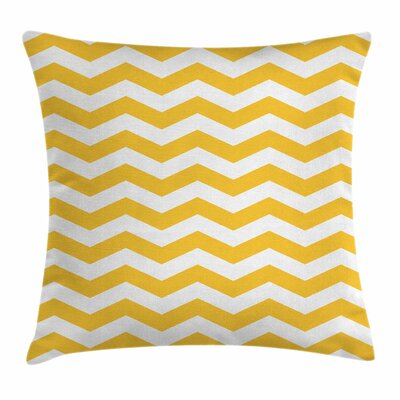 Chevron Summer Theme Square Cushion Pillow Cover Size: 20 x 20