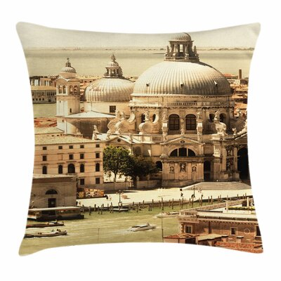 Antique Italian Basilica Square Pillow Cover Size: 18 x 18