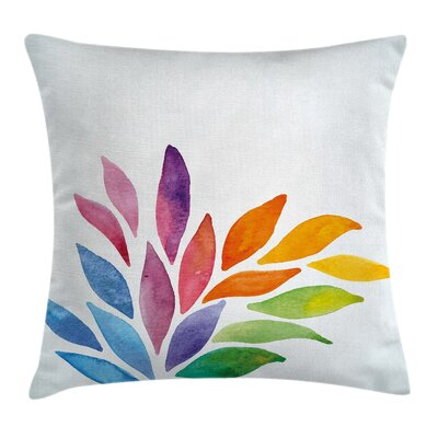 Modern Flower Square Pillow Cover with Zipper Size: 20 x 20