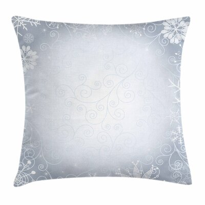 Christmas Frame Swirls Square Cushion Pillow Cover Size: 24 x 24