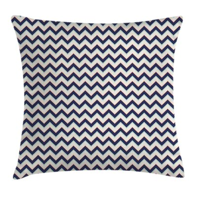 Geometric Retro Funky Square Pillow Cover Size: 24 x 24