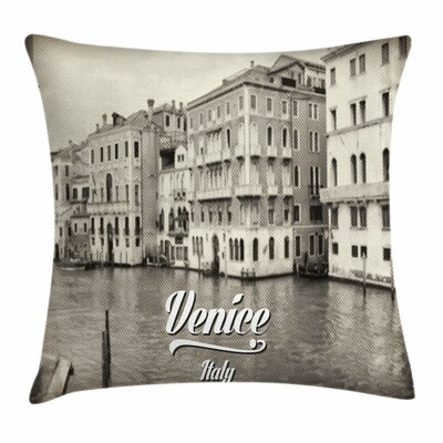 Old Vintage Photo Square Pillow Cover Size: 16