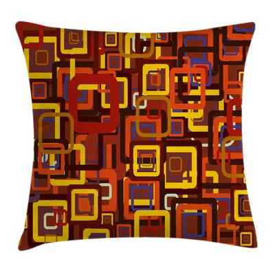 Trippy Cushion Pillow Cover Size: 16 x 16