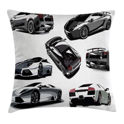 Modern Car Pillow Cover Size: 24 x 24