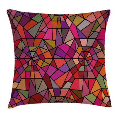 Vitray Mosaic Triangle Square Pillow Cover Size: 16 x 16
