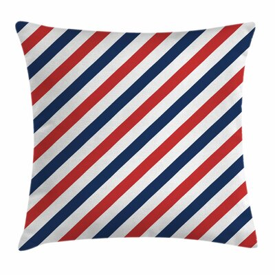 Stripe Diagonal Retro Square Cushion Pillow Cover Size: 20 x 20