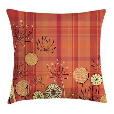 Modern Removable Floral Pillow Cover Size: 24 x 24