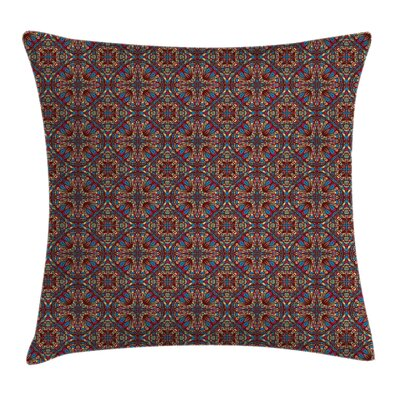 Kaleidoscope Stained Cushion Pillow Cover Size: 18 x 18