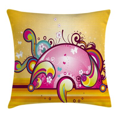 Spiral Vibrant Shapes Line Cushion Pillow Cover Size: 16 x 16