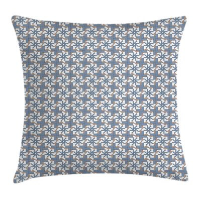 Modern Abstract Floral Motifs Square Pillow Cover Size: 18 x 18