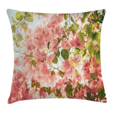 Sunny Summer Blossoms Cushion Pillow Cover Size: 18 x 18