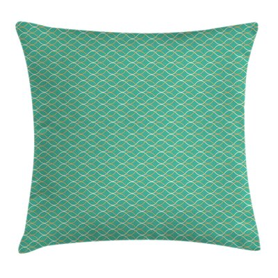 Modern Wavy Horizontal Lines Square Pillow Cover Size: 16 x 16