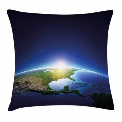 Sunrise North America Square Pillow Cover Size: 24 x 24