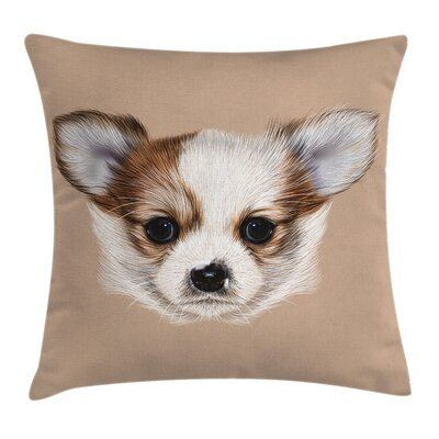 Cute Little Furry Friend Cushion Pillow Cover Size: 16 x 16