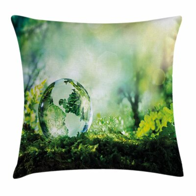 Globe Pillow Cover Size: 24 x 24