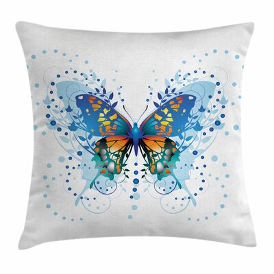 Swallowtail Butterfly Curls Art Square Cushion Pillow Cover Size: 20 x 20