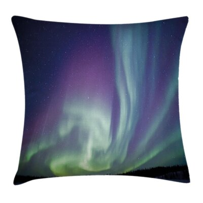 Northern Light Solar Starry Sky Cushion Pillow Cover Size: 24 x 24