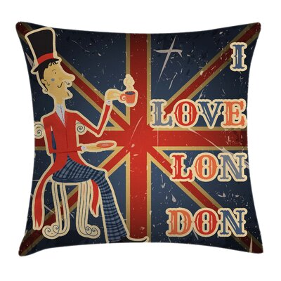 British Flag Pillow Cover Size: 16 x 16