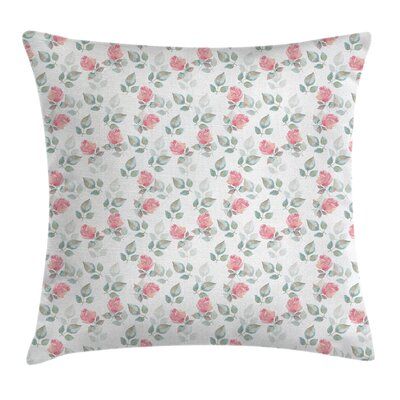 Rose Petals Blossoms Cushion Pillow Cover Size: 16 x 16