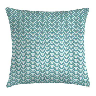Bold Water Fishing Square Pillow Cover Size: 16 x 16