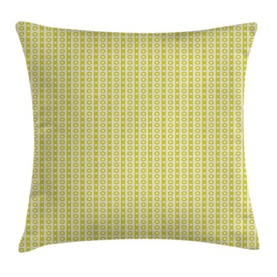 Vertical Stripes and Dots Cushion Pillow Cover Size: 18 x 18