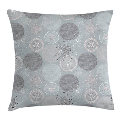 Circular Pastel Shapes Square Pillow Cover Size: 16 x 16