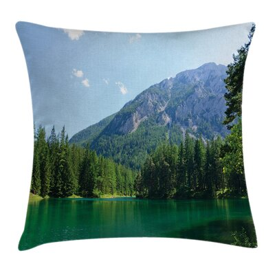 Forest Lake in Valley Square Pillow Cover Size: 18 x 18